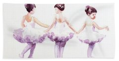 Little Ballerinas-3 Hand Towel