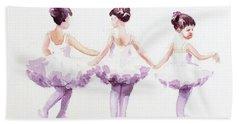 Little Ballerinas-3 Bath Towel