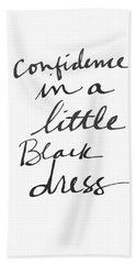 Little Black Dress - Art By Linda Woods Bath Towel