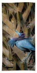 Little Blue Heron Hand Towel