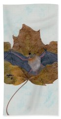 Little Brown Bat Bath Towel by Ralph Root