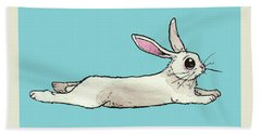 Little Bunny Rabbit Hand Towel by Katrina Davis