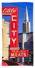 Little City Market North Beach San Francisco Hand Towel