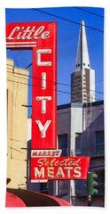 Little City Market North Beach San Francisco Bath Towel