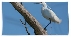 Little Egret Hand Towel