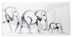 Little Elephant Family Bath Towel