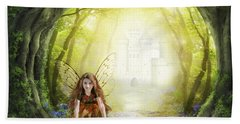 Little Fairy In The Woods Bath Towel