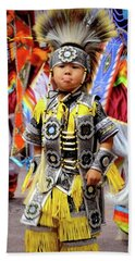 Little Grass Dancer Hand Towel by Clarice Lakota