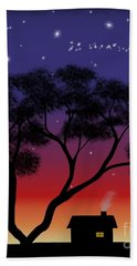 Little House At Sunset Hand Towel