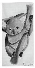 Little Koala On A Tree Hand Towel
