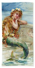 Little Mermaid Hand Towel by E S Hardy