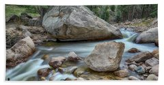 Bath Towel featuring the photograph Little Pine Tree Stream View by James BO Insogna