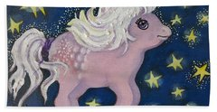 Little Pink Horse Hand Towel
