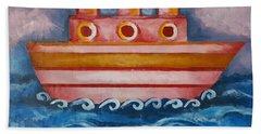 Little Pink Ship Bath Towel