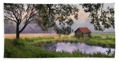 Hand Towel featuring the photograph Little Pond by Robin-Lee Vieira