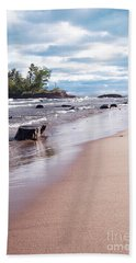 Bath Towel featuring the photograph Little Presque Isle by Phil Perkins