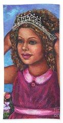 Hand Towel featuring the painting Little Princess by Alga Washington