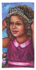 Bath Towel featuring the painting Little Princess by Alga Washington