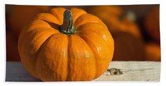 Little Pumpkin Hand Towel by Joseph Skompski
