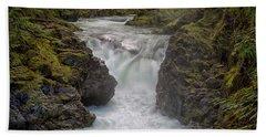 Little Qualicum Lower Falls Hand Towel by Randy Hall