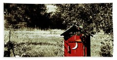 Little Red Outhouse Hand Towel