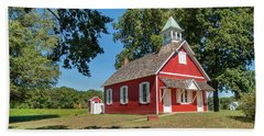 Little Red School House Hand Towel