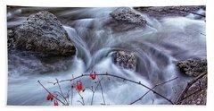 Little River Columbines Hand Towel