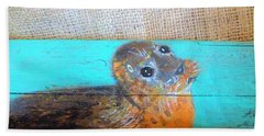 Little Seal Bath Towel by Ann Michelle Swadener