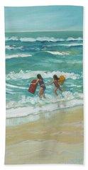 Little Surfers Hand Towel