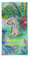 Little Sweet Pea With Title Bath Towel