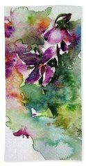 Little Violet Hand Towel by Kovacs Anna Brigitta