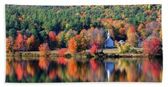 Bath Towel featuring the photograph 'little White Church', Eaton, Nh	 by Larry Landolfi