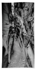 Bath Towel featuring the photograph Little Wild Horse Canyon Bw by Jennifer Ancker