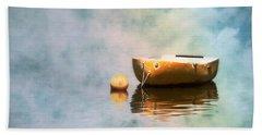 Little Yellow Boat Hand Towel