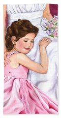 Littlest Wedding Belle Hand Towel