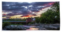 Littleton Sunset On The Rocks Hand Towel
