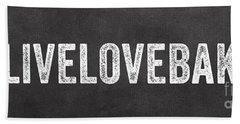 Live Love Bake Hand Towel