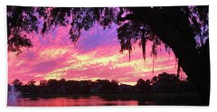 Live Oak Sunset Bath Towel