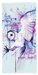 Live Without The Sunlight Owl Bath Towel