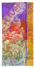 Bath Towel featuring the painting Live Your Life by Angela L Walker