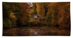 Living Between Autumn Colors Hand Towel