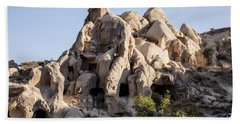 Living In Tufa Bath Towel by Kathy McClure
