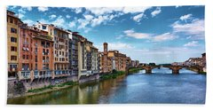 Living Next To The Arno River Hand Towel