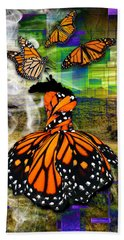 Bath Towel featuring the mixed media Living One's Destiny by Marvin Blaine