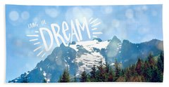 Living The Dream Hand Towel by Robin Dickinson