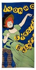 Livorno Stagione Balneare Poster 1901 Hand Towel