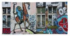 Hand Towel featuring the photograph Ljubljana Graffiti - Slovenia by Stuart Litoff