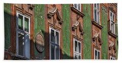 Hand Towel featuring the photograph Ljubljana Windows #2 - Slovenia by Stuart Litoff