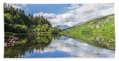 Llyn Mymbyr And Snowdon Hand Towel by Ian Mitchell