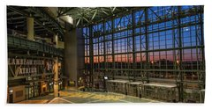 Hand Towel featuring the photograph Lambeau Field Atrium Sunset by Joel Witmeyer